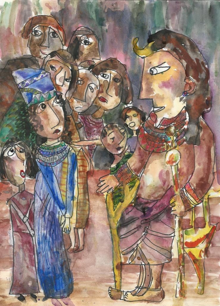 Дети рисуют Тору, художественная студия, еврейская традиция для детей