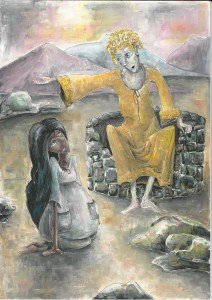 История о том, как Ангел в пустыне учил Агарь хорошим манерам