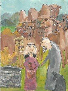 Как слуга Авраама нашел невесту для Ицхака