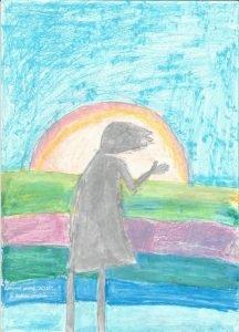 Рисунок на конкурс. Детская изостудия, Водный стадион, Ленинградское шоссе.