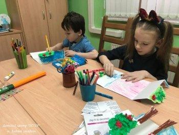 Мастер-класс для детей, создание открыток. Центр ЭСТЕР, Лениградское шоссе.
