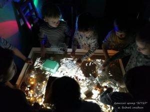 Рисование песком, занятия для детей, Центр ЭСТЕР, САО, Водный стадион